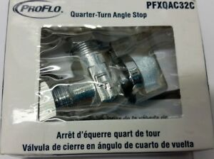 10 Pack Proflo Pfxqac32c Low lead Quarter turn Angle Stop Polished Chrome