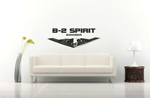 B 2 Spirit Bomber Jet Wall Decal Us Military Army Wall Sticker Large