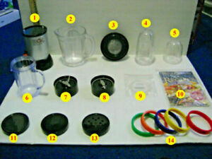 MAGIC BULLET BLENDER #MB 1001 REPLACEMENT PARTS PIECES YOUR CHOICE $14.95