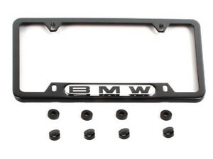 Bmw E46 E90 Etc License Plate Frame Factory Original Black Number Tag Accent