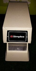 Simplex 1605 9001 Time Stamp Clock