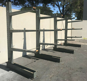 Cantilever Heavy Duty Raw Material Racking Shelving Storage Holding Metal Racks