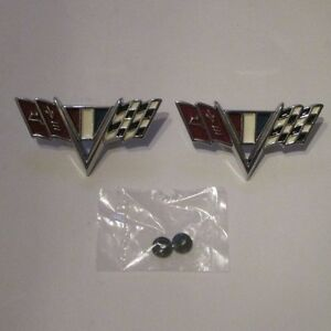 New 64 67 Chevy El Camino 283 327 Or 350 Front Fender Flags
