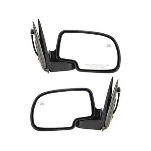 New Set Of 2 Power Heated W Puddle Light Mirrors For Chevy Silverado 2001 2002