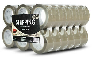 Red Frog 36 Rolls 3 1mil 1 88 x60yds Tan brown Heavy Duty Packaging Packing Tape