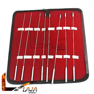 Bakes Rosebud Urethral Dilators Sounds Urethral 8 Piece Kit 3mm To 10mm