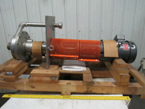 Rs Corcoran 5000vec 1 7 5hp Vertical Sump 316 Stainless Centrifugal Pump 3 x 2