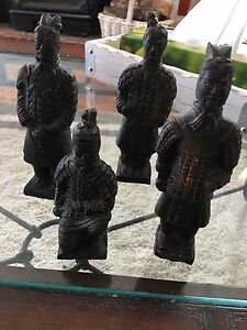 Vintage Terra Cotta Army Samurai Warriors From 1950s