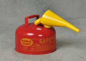 Eagle 2 gallon Metal Gasoline Can Red Gas Fuel Tank Steel New Pour Spout Liquids