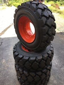 4 Galaxy Hulk L5 12 16 5 Skid Steer Tires wheels For Bobcat A300 s750 12x16 5