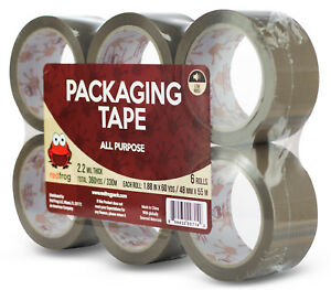 Red Frog 1 88 X 60 110 Yards Tan brown Low Noise Packaging Packing Tape