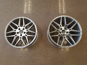 20 Giovanna Bogota Bmw Set Of 4 Wheel 5 6 7 Series Machine Silver Staggered Fit