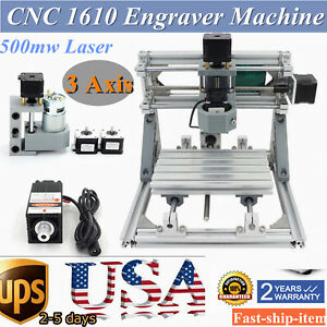Diy Cnc 1610 Mini Mill Engraving Machine Cnc Router Kit Usb 500mw Laser Pcb Wood