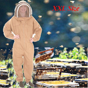 Beekeeper Protection Bee Keeping Suit Safty Veil Hat All Body Equipment Hood 2xl
