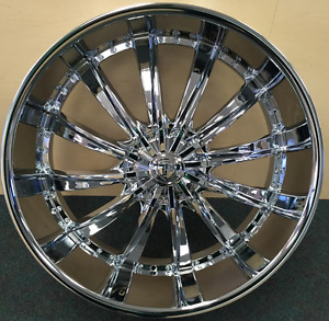 28 Inch Chrome Borghini B19 Wheels Rims 20 24 26 30