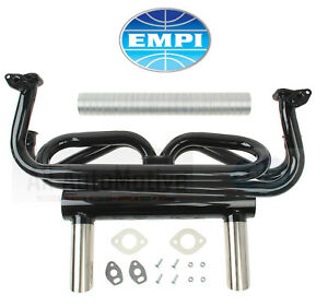 Exhaust System Kit Empi Exhaust Header 2 Tip Fits Vw Beetle Bug Ghia Superbeetle