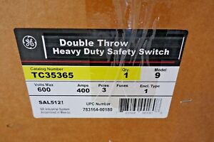 New General Electric Ge Tc35365 Double Throw Heavy Duty Safety Switch 400a