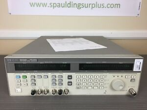 Agilent Hp 83732b 10mhz To 20ghz Synthesized Signal Generator W Opts 1e1