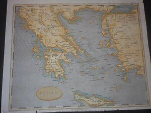 Greece Original 1803 Map By Cadell Davies