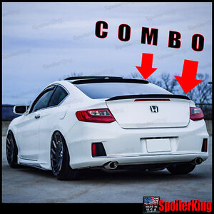 Rear Roof Spoiler Trunk Wing Spoilerking 284r 284g Fits Accord 13 18 2d Coupe