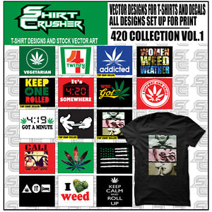 420 Vol1 vector Clipart Screen Print Vinyl Cutter Eps Tshirt Designs Cd