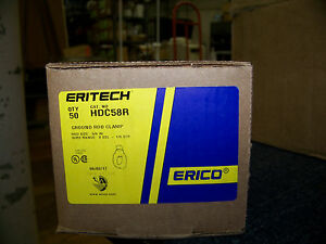 Erico Ground Rod Clamp Rod To Conductor Bronze 5 8 50 Ea Cat No Hdc58r