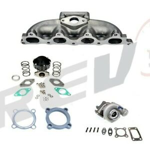 Rev9 Turbo Charger Setup Kit For 90 93 Honda Accord F22 48ar T3 300hp 4cyl
