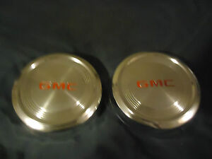Gmc Truck Van 10 7 8 Dog Dish Poverty Hubcap Hub Cap Nice Used Set Of 2 Oem