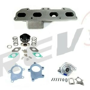 Rev9 Turbo Charger Complete Setup Kit 90 99 Eclipse 420a T3t4 04e Manifold 400hp