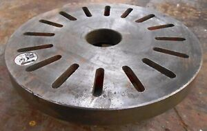 Engine Lathe Face Plate 14 1 4 Diameter 2 3 4 Inside Diameter