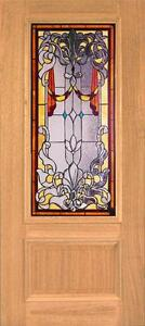 Beautiful Stained Glass Custom Entry Or Interior Door Jhl150