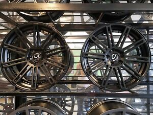 20 New Gianelle Tropez Set Of 4 Wheels Flat Black Staggered Fit