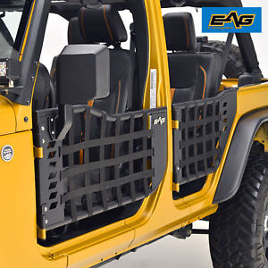 07 18 Jeep Jk 4dr 4 Matrix Tubular Doors Body Armor Front Rear With Side Mirrors