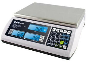 Cas S 2000 Jr lcd Price Computing Scale 30x0 01 Lb dual ntep legal For Trade