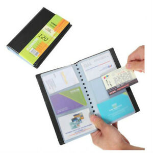 A 120 Cards Business Name Id Credit Card Holders Book Case Keeper Organizer