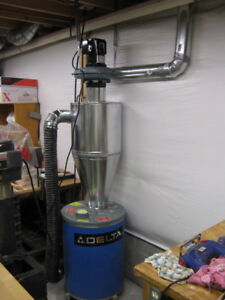 Cyclone Dust Collector 6 Inch Inlet On Left Made From Galvanized Steel