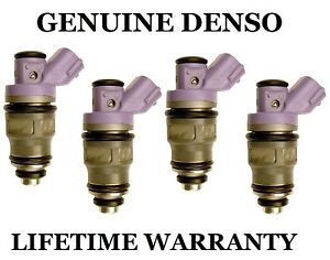 Genuine Denso Set Of 4 Fuel Injectors For Toyota Previa 2 4l 91 92 93 94 95