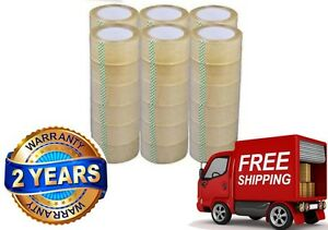 36 Rolls Box Carton Sealing Packing Packaging Tape 2 x110 Yards 330 Ft Clear