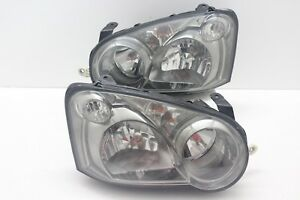 Jdm Subaru Impreza Wrx Rev8 Gdb Gda Front Smoke Headlights Light Lamp 2004 05 V8