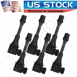 New Ignition Coil 6 Pack For 2003 2004 Infiniti Fx35 G35 M35 Nissan 350z