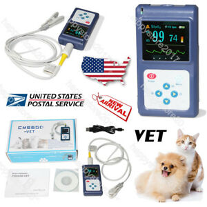 Animal Vet Veterinary Pulse Oximeter Cms60d vet tongue Spo2 Probe pc Sw Us Stock