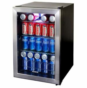 Mini Beverage Cooler 17 In 84 12 Oz Can Cooler stainless Steel Finish Cooler