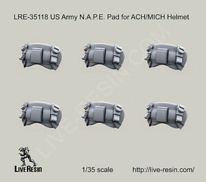 Live Resin LRE35118 1 35 US Army NAPE Pads for ACH MICH Helmets AU $7.95