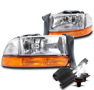 1997 2004 Dodge Dakota 1998 2003 Durango Headlight amber Bumper W 50w 6k Hid Set