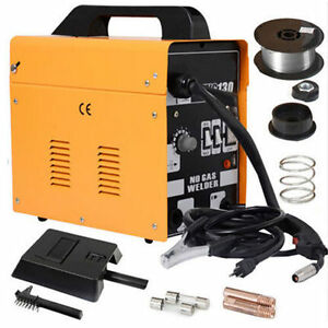 New Mig 130 Welder Flux Core Wire Automatic Feed Welding Machine W Mask