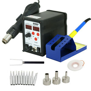 2 In 1 898d 110v Smd Esd Rework Station Soldering Iron Hot Air Gun Desolder