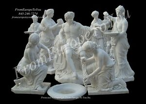 Great Hand Carved Marble Caesar Statue Grouping Ghz54