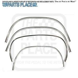 1970 76 Plymouth Duster Aluminum Wheel Opening Moldings Polished Set Of 4