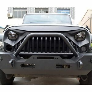 Front Matte Black Angry Bird Grill For 2007 18 Jeep Wrangler Jk