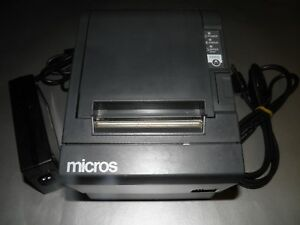 Micros Epson Tm t88iii M129c Thermal Pos Receipt Printer Idn With Power Cable